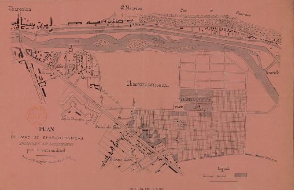 Fichier Plan Parcellaire Domaine De Charentonneau Maisons Alfort Alfortville St Maurice 1899 Png Wikipedia