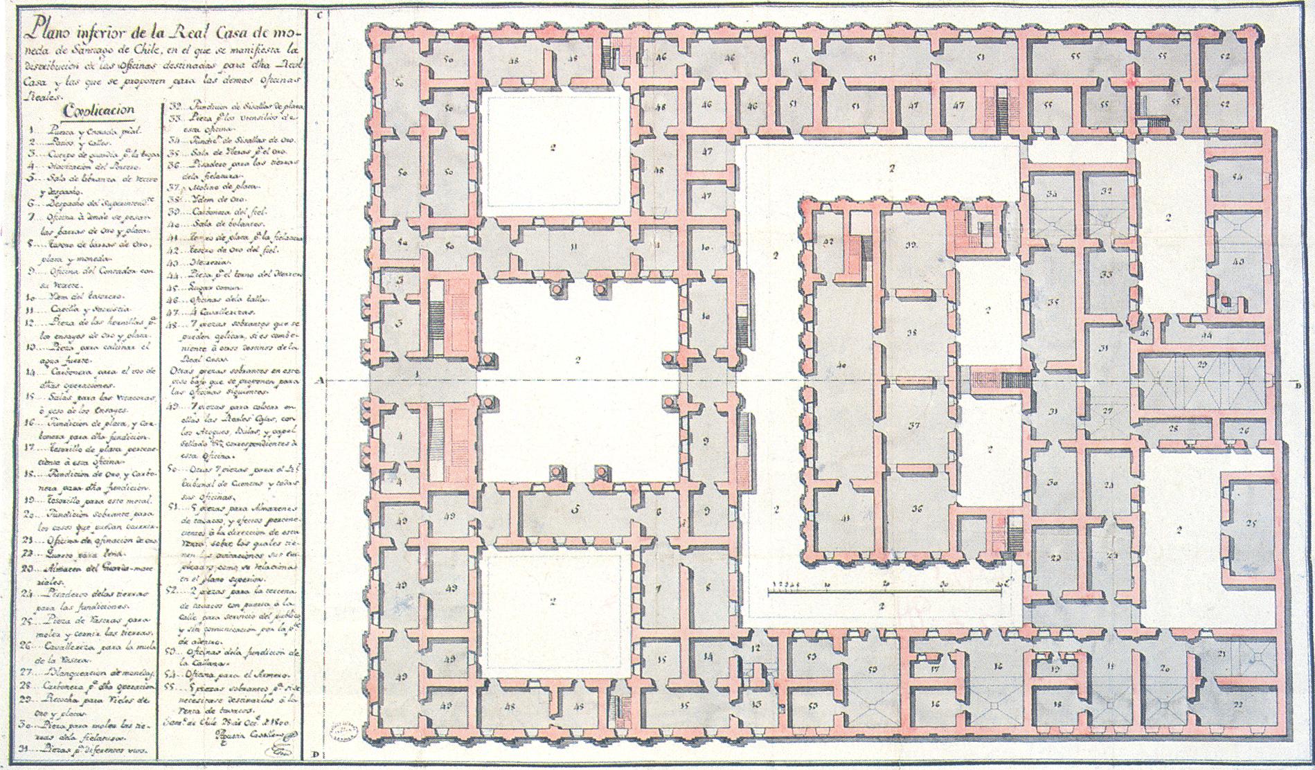 File plano inferior de la real casa de moneda - Plano de la casa ...