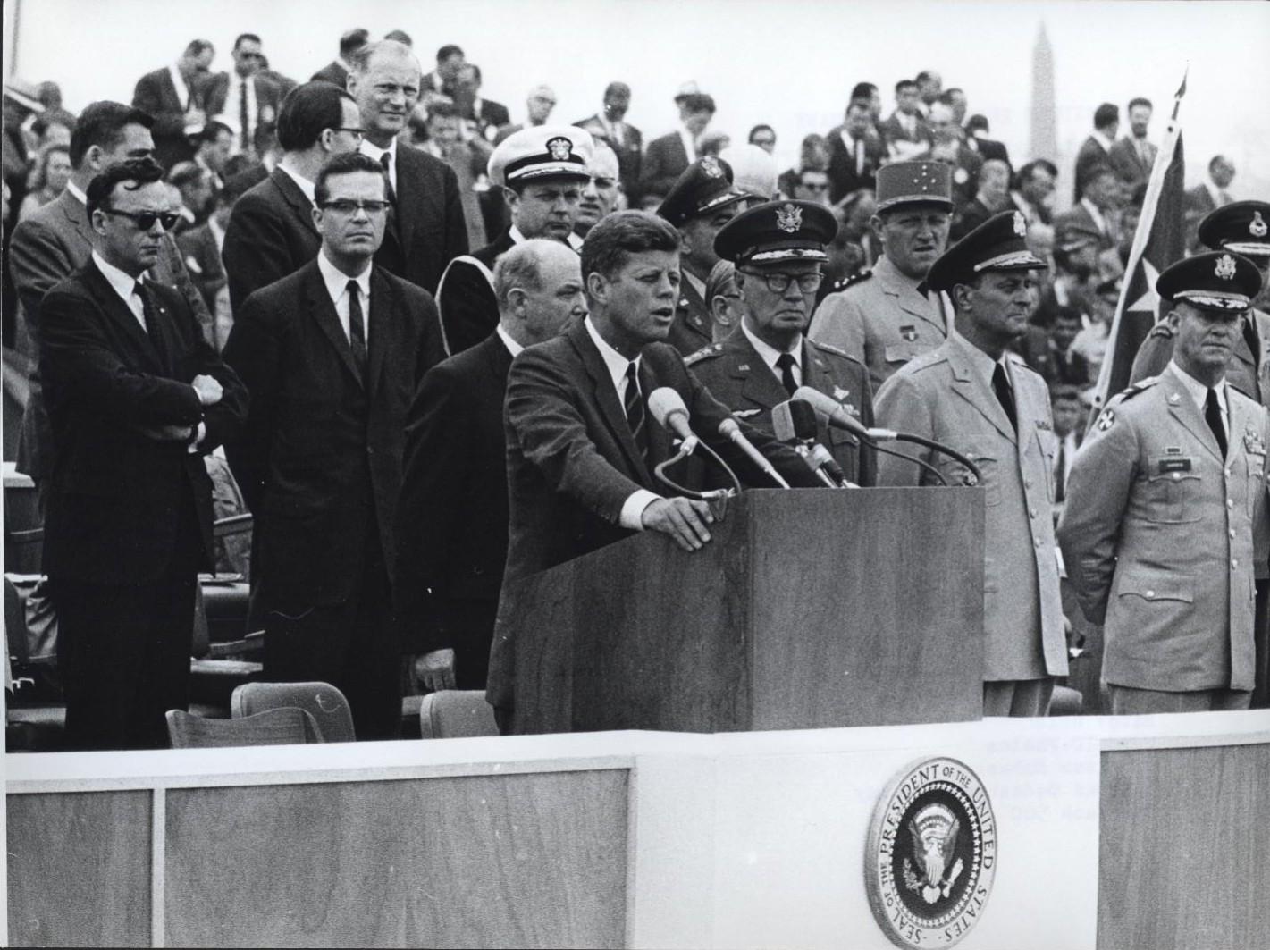 kennedy speech Ich bin ein berliner (english: i am a berliner) was a speech by john f kennedy he made the speech on june 26, 1963 in west berlin.