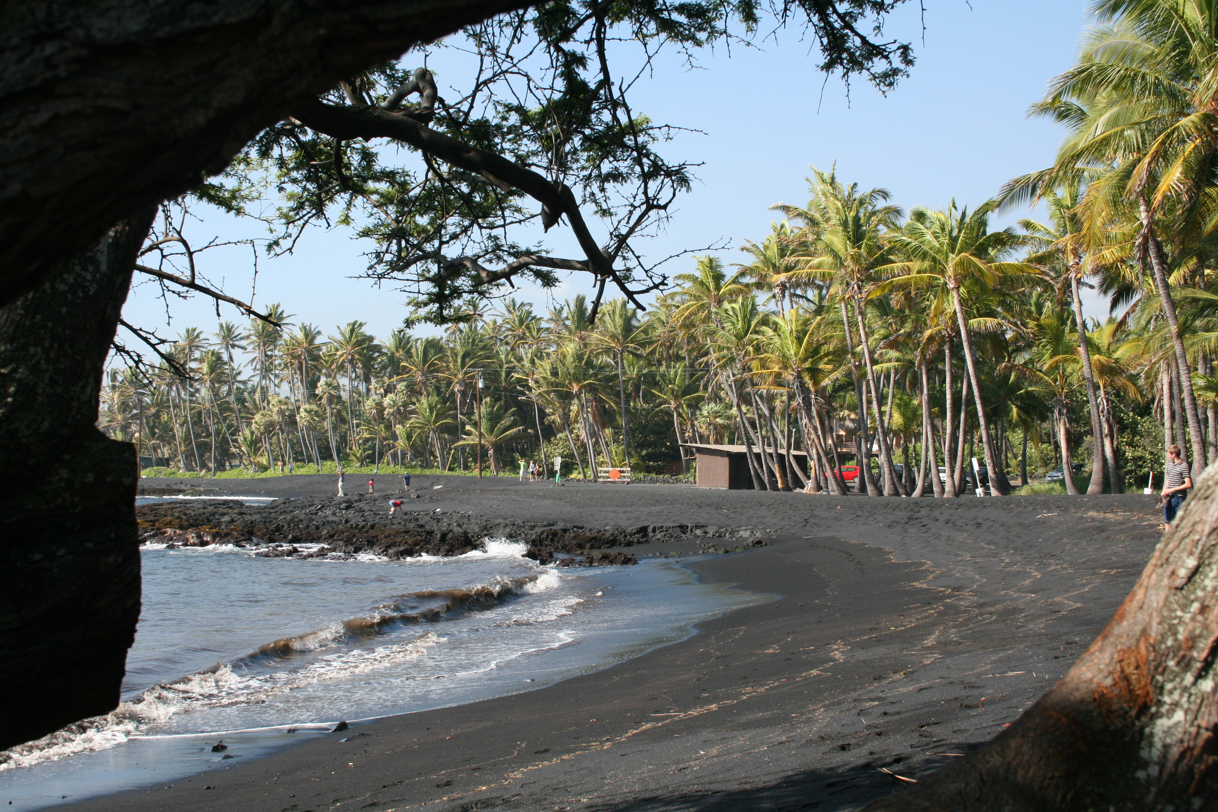 File Punaluu Black Sand Beach Hawaii Usa3 Jpg