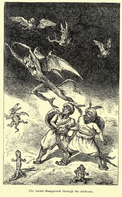 RF Burton Vikram and the Vampire (1870) Illustrated by Ernest Griset page165f.png