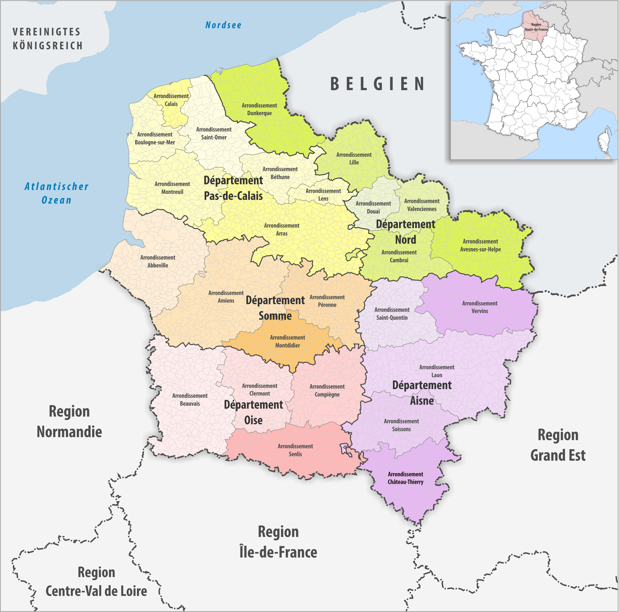 File region hauts de france arrondissement for Haute de france