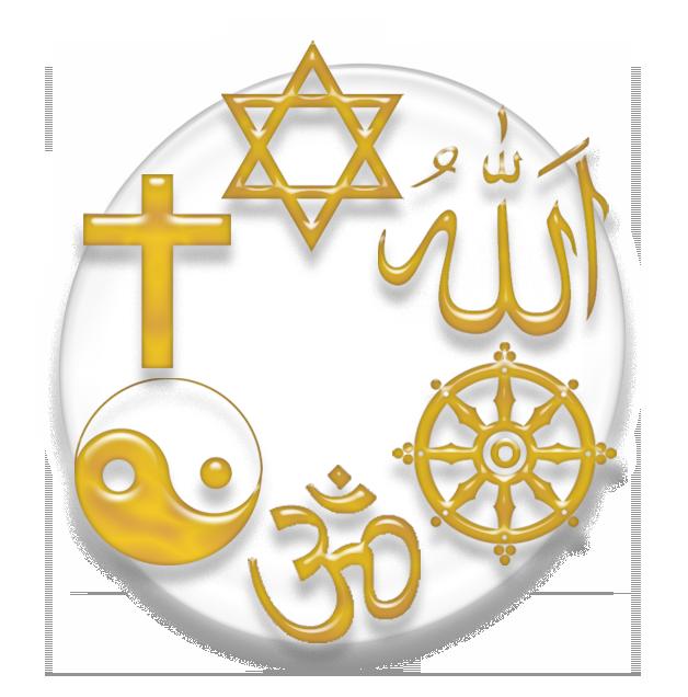 many religious symbols from