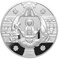 верс срібної монети із зображенням різдвяної символіки