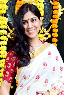 Sakshi Tanwar graces the Ganesha puja at Ekta Kapoor's house (05) (cropped).jpg