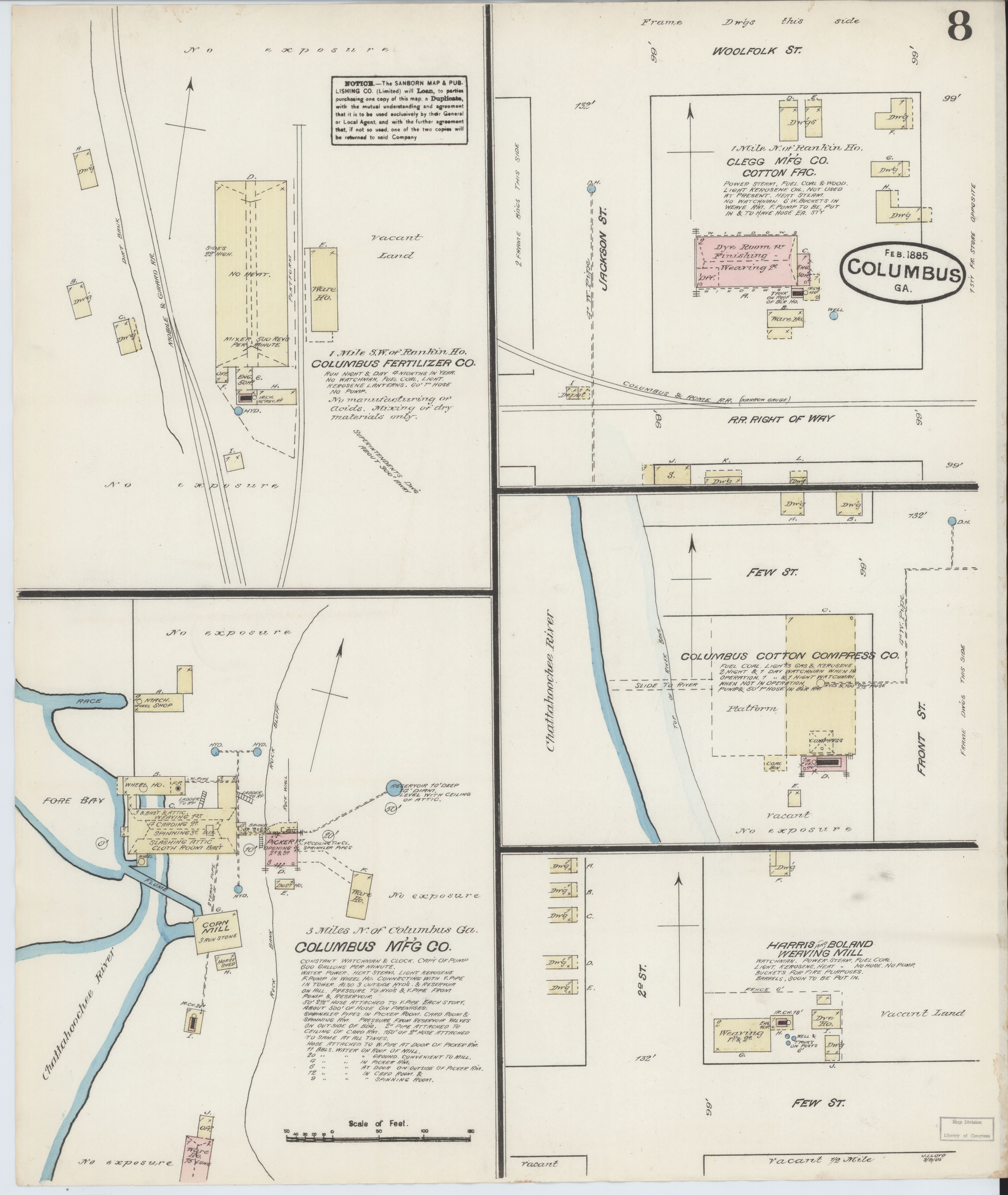 Map Of Columbus Georgia.File Sanborn Fire Insurance Map From Columbus Muscogee County