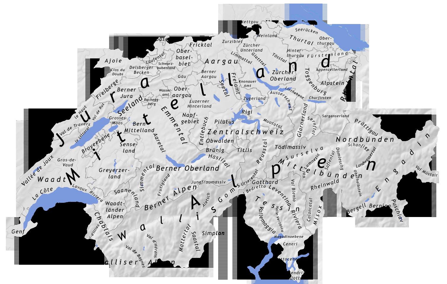 Geographie der Schweiz - Wikiwand