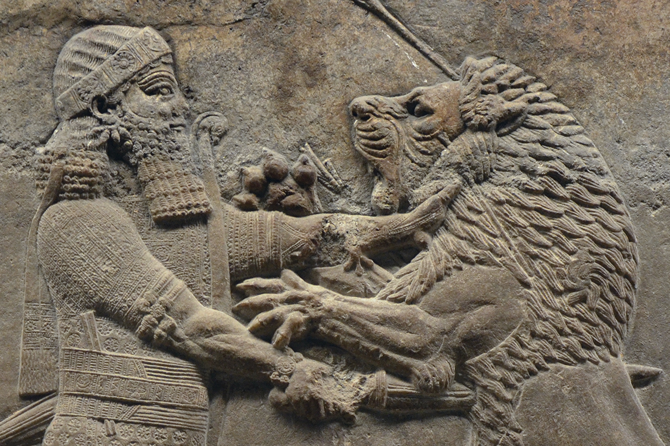 File sculpted reliefs depicting ashurbanipal the last