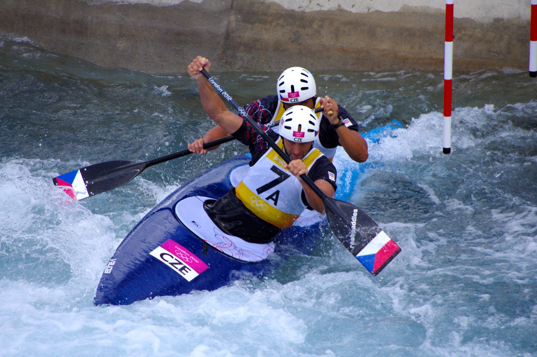 FileSlalom Canoeing 2012 Olympics C2 CZE Jaroslav Volf And Ondrej Stepanek