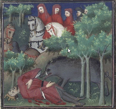 Death of King Philip IV hunting.