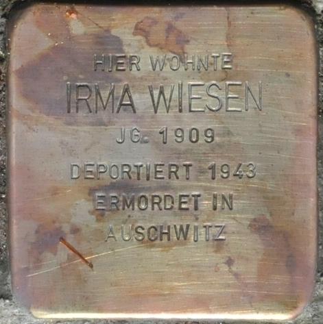 Stolperstein Schlossberg 10, Eisenach-Irma Wiesen-CTH.JPG