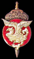 TDND 5 (BAWOUAN) emblem. This elite airborne unit fought several battles including Dien Bien Phu.