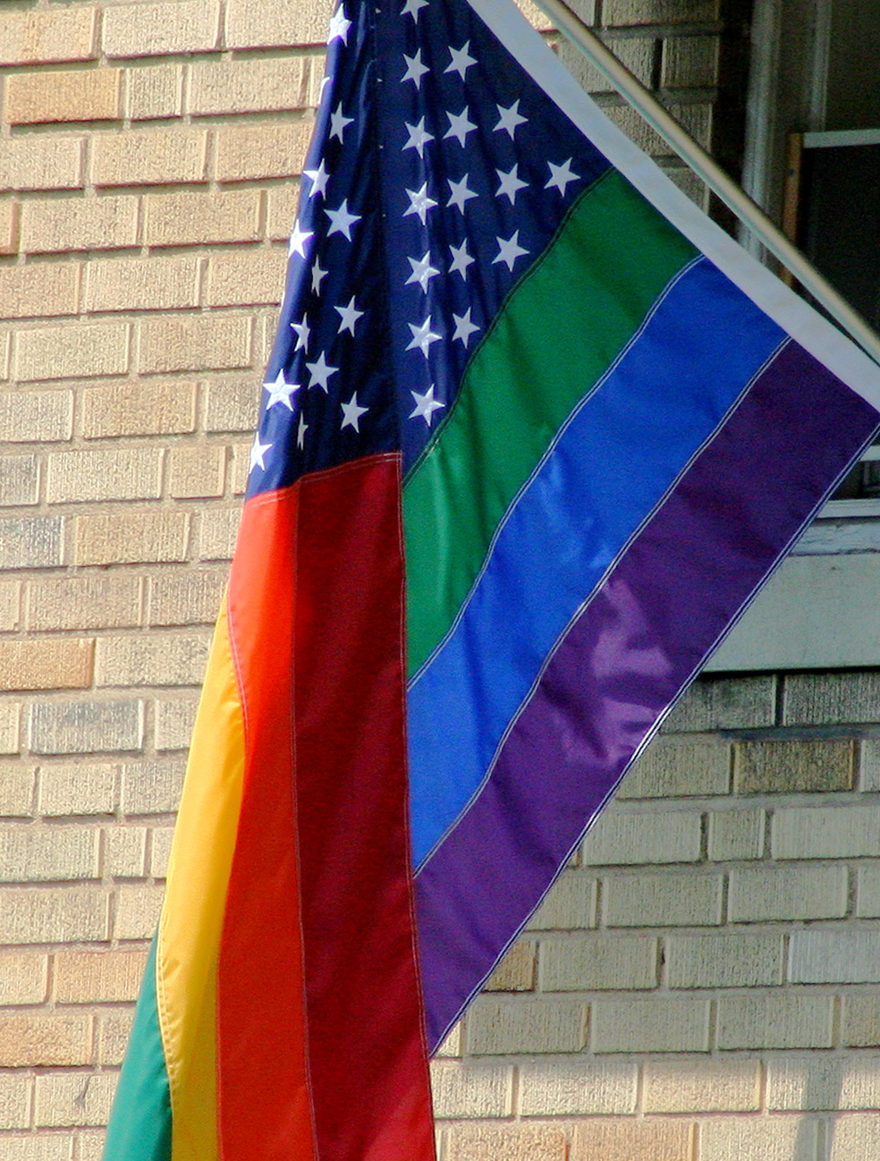 The rainbow flag, sometimes called 'the freedo...