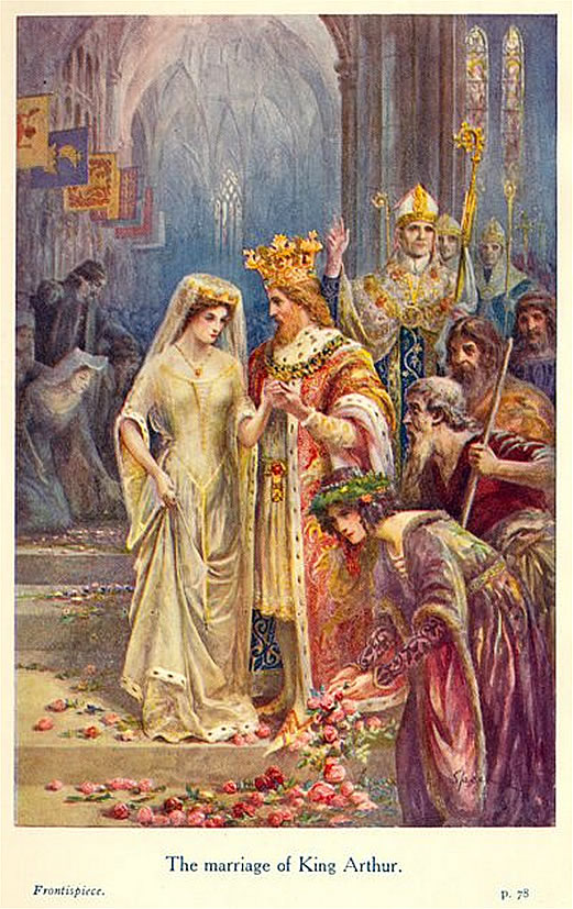 Arthur and Guinevere's wedding
