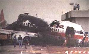 Los Angeles runway disaster 1991 runway collision between two airplanes