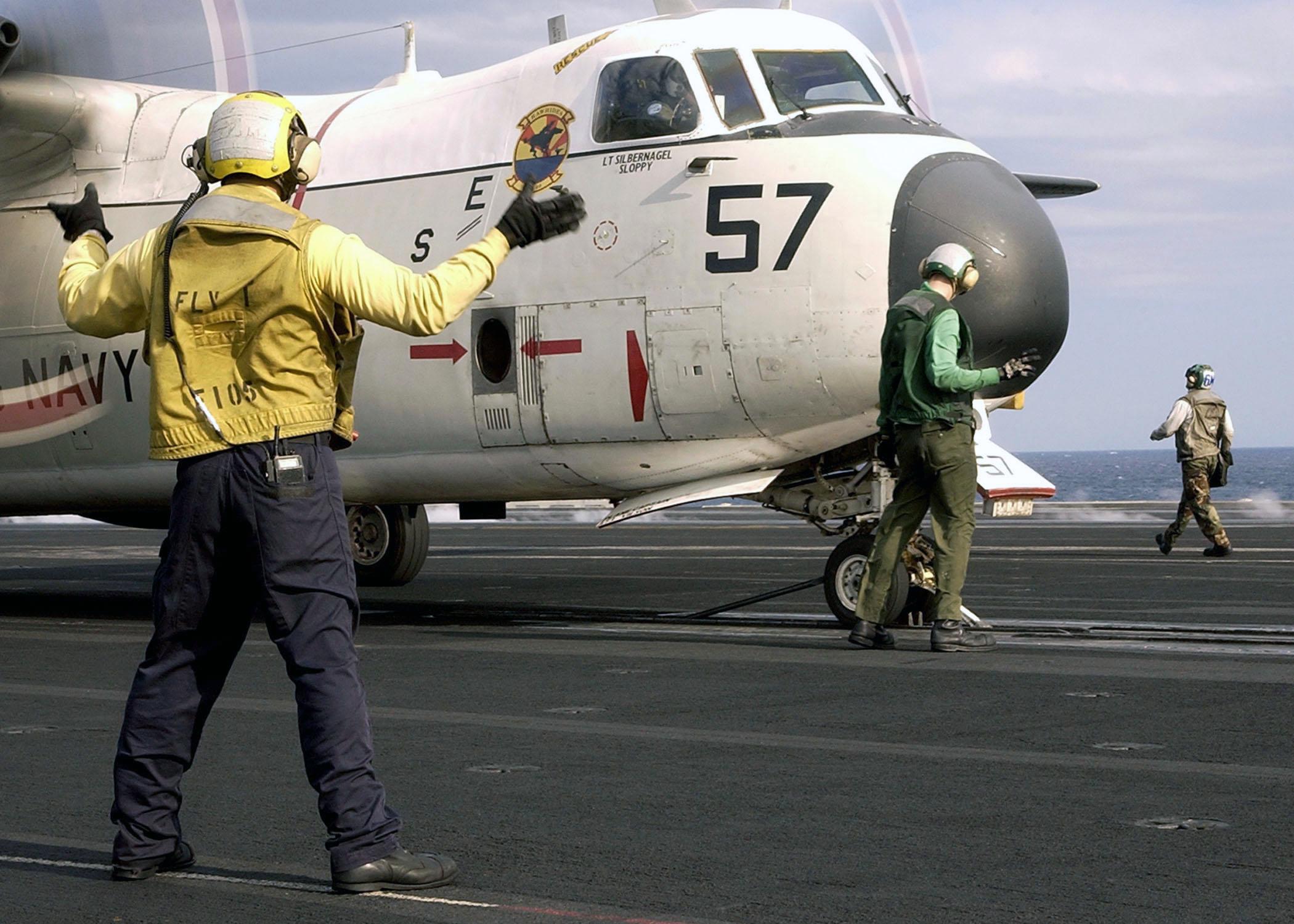 C 2a Greyhound Logistics Aircraft File:US Navy 030409-N-...