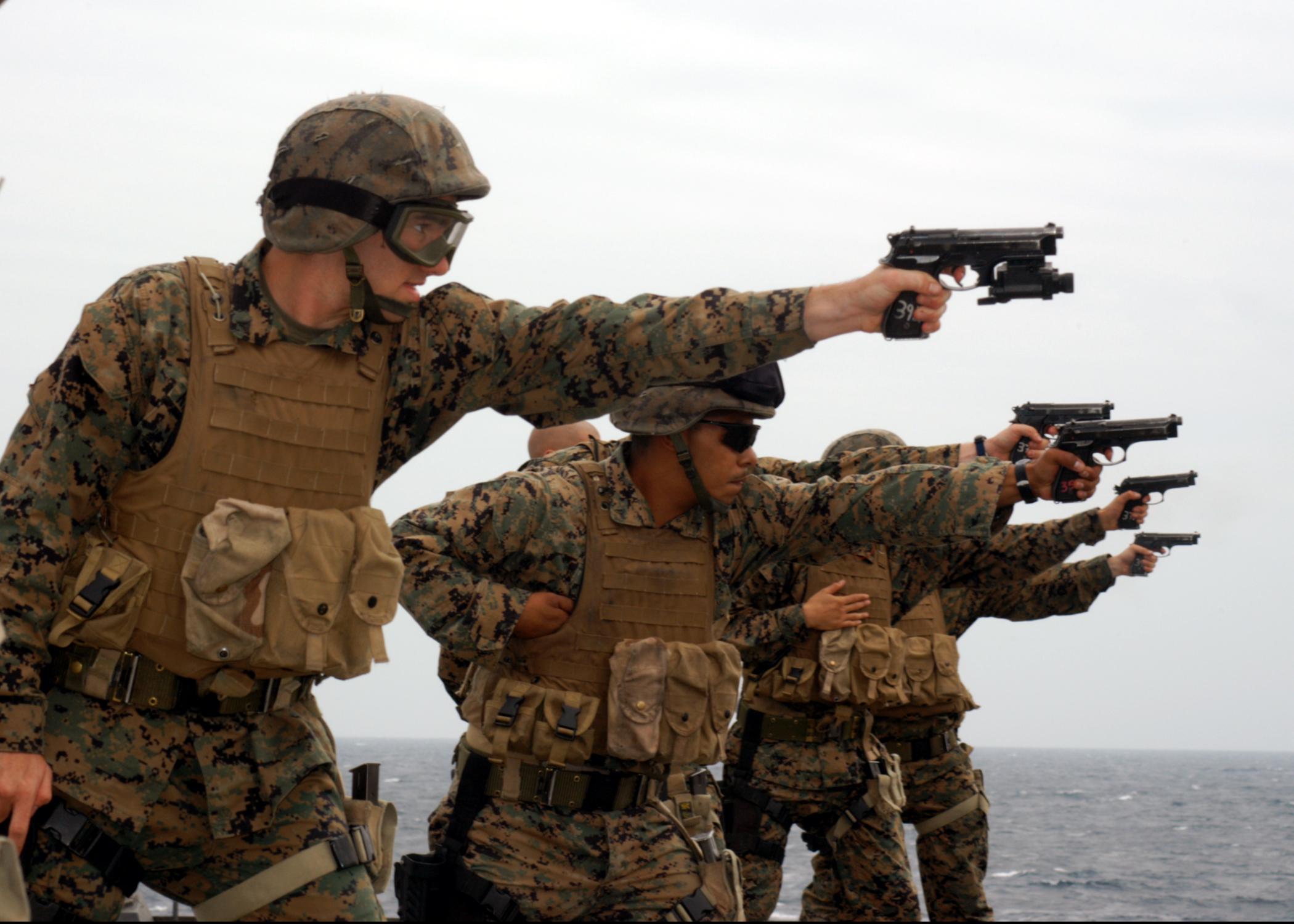 Military Surplus Auction >> File:US Navy 050326-N-7526R-009 Marines assigned to 2nd Fleet Antiterrorism Security Team (FAST ...