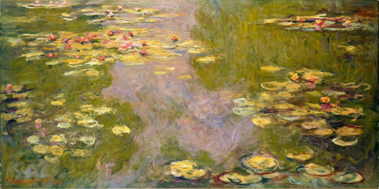 Water lily painting monet for Claude monet artwork