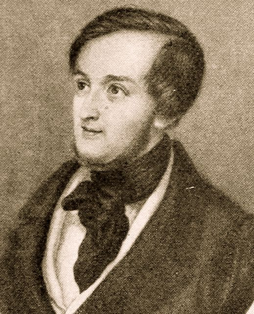 Richard Wagner en la década de 1830.