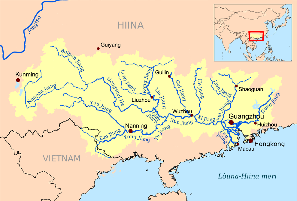 Xi River China Map