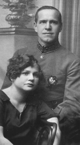 С женой Александрой (1920-е)