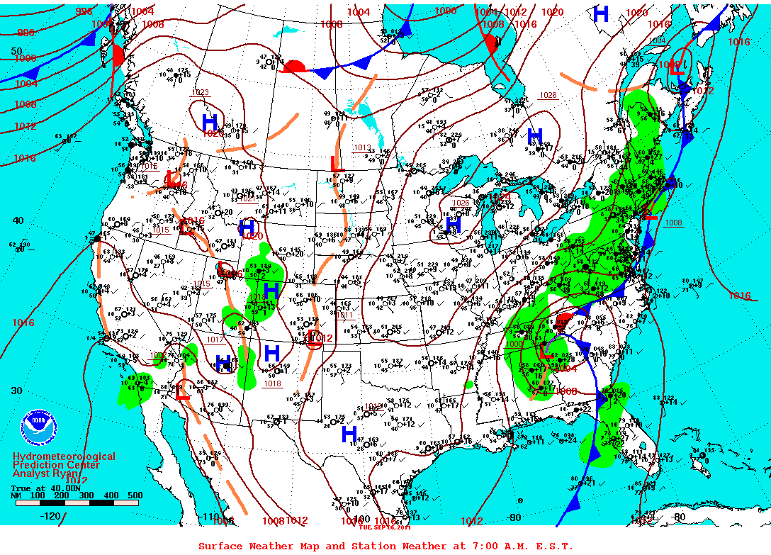 File Surface Weather Map NOAApng Wikimedia Commons - Us weather map barometric pressure