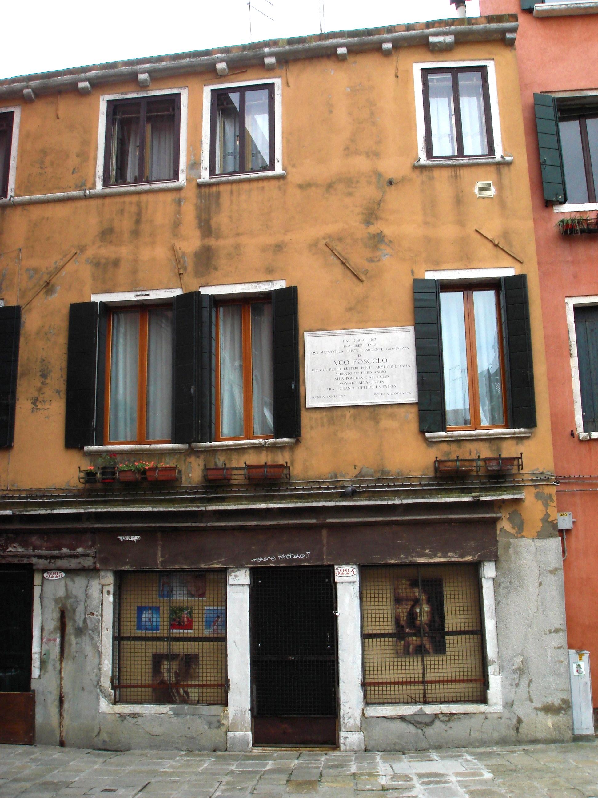 File 9220 venezia casa di ugo foscolo in campo de le for Casa immagini