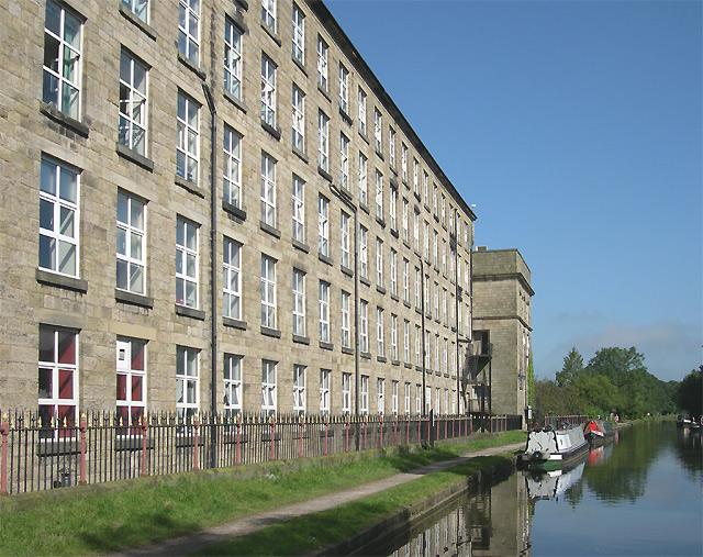 Adelphi Mill and Macclesfield Canal at Bollington, Cheshire - geograph.org.uk - 568130