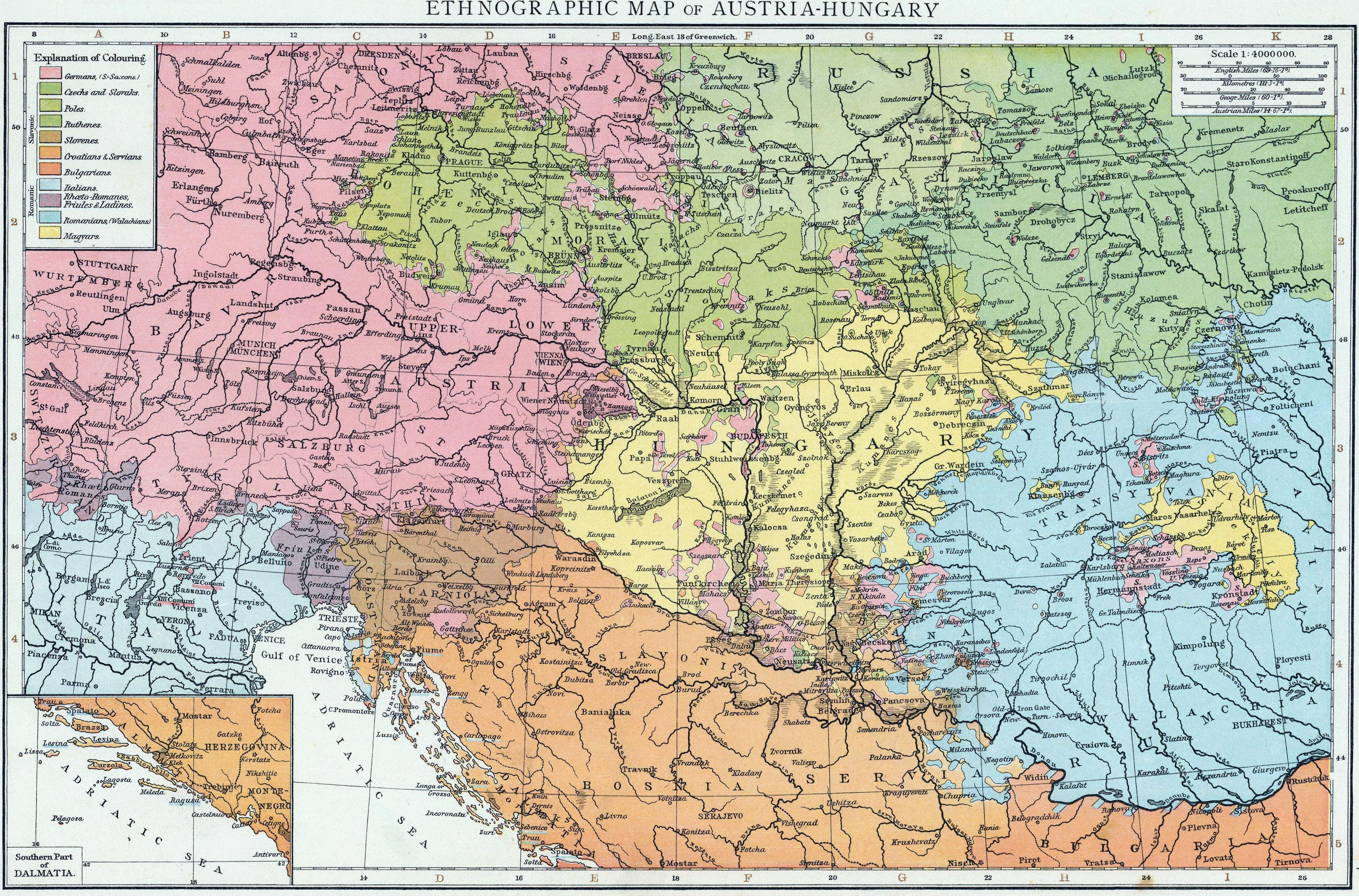 1890 Map Of Poland And Austria Creativehobby Store