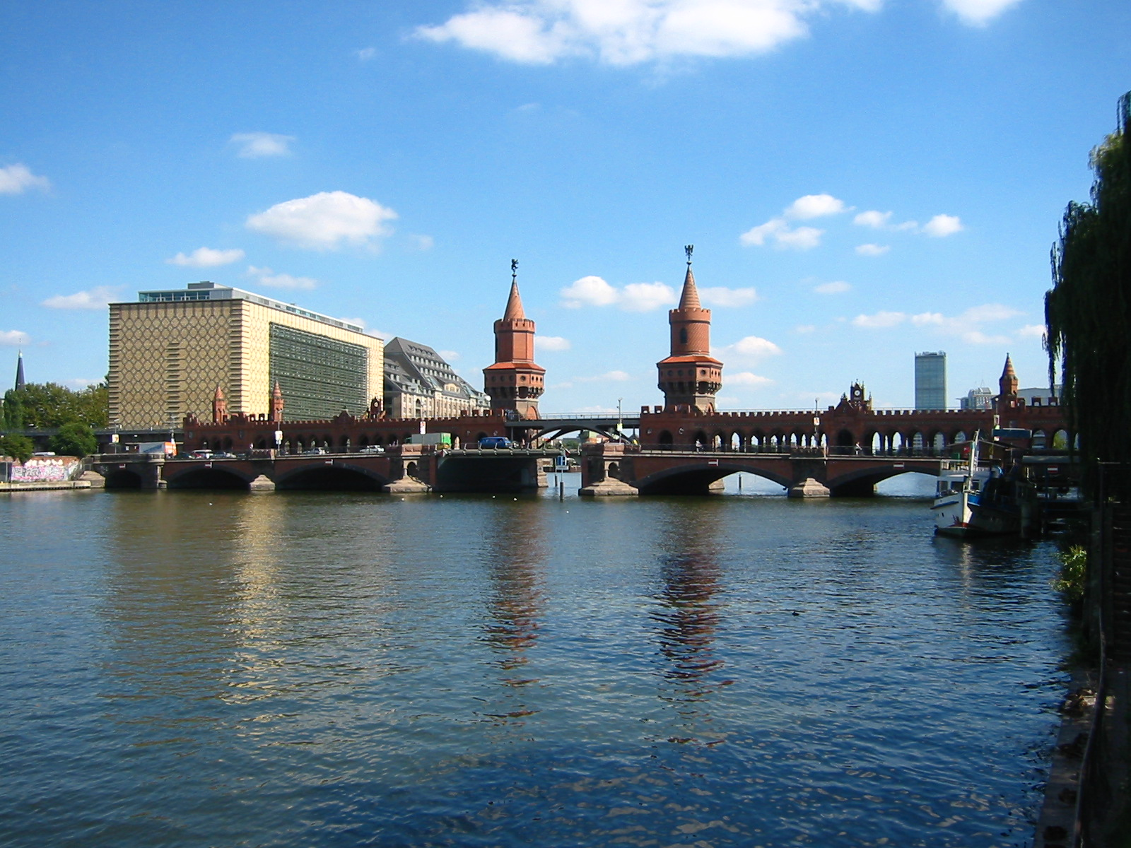Обои deutschland, berlin, германия, oberbaumbrücke, spree. Города foto 12
