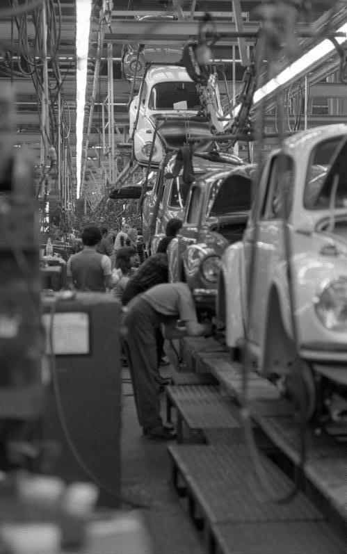 Car factory.