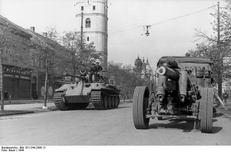 A Panther of the 23rd Panzer-Division in Tokaj
