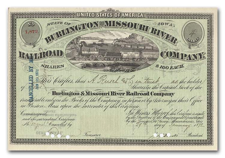 File:Burlington Missouri River Railroad Burlington stock certificate.jpg