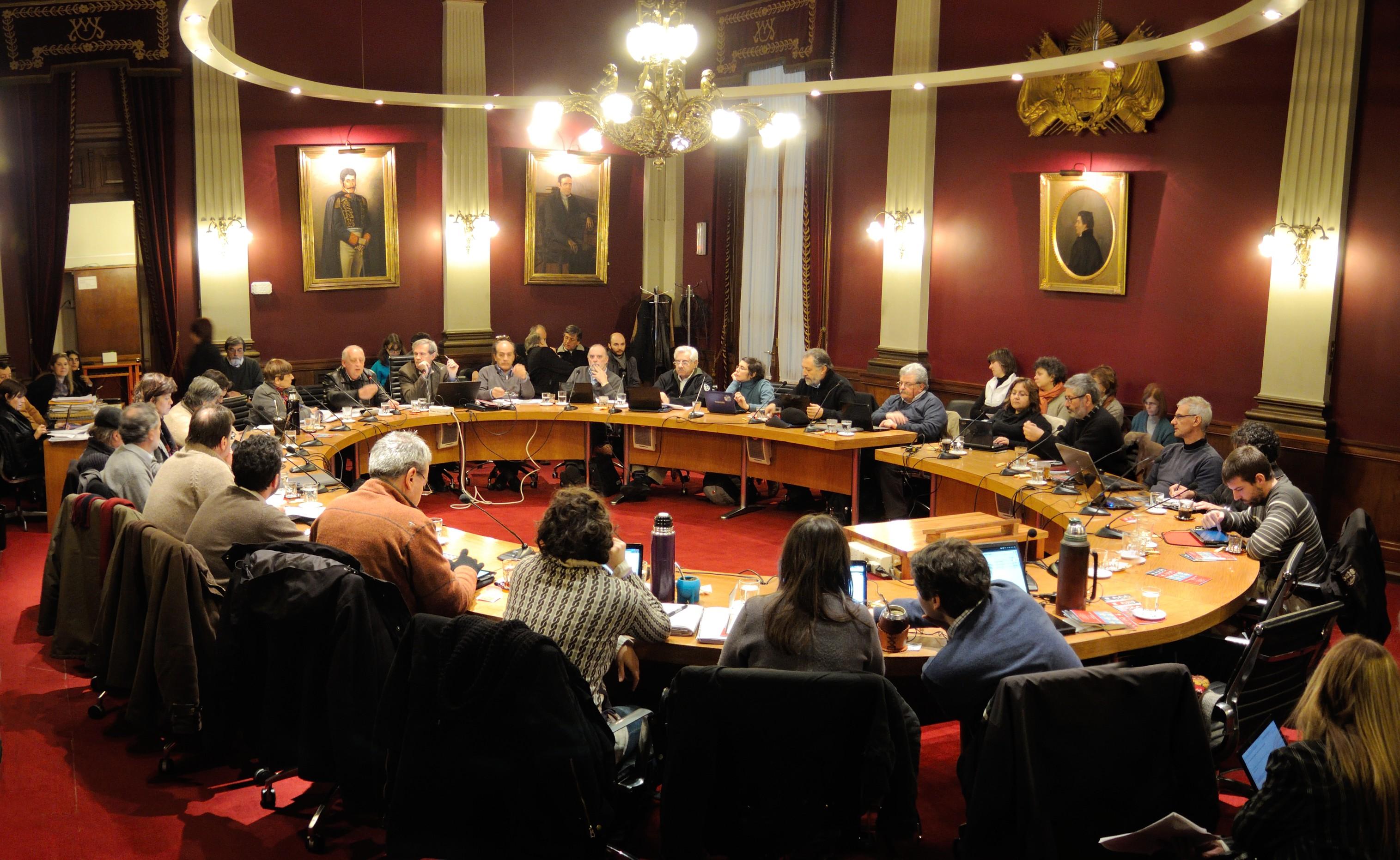 Reunión del Consejo Directivo Central de la Universidad de la República, Uruguay (23 de julio de 2013).