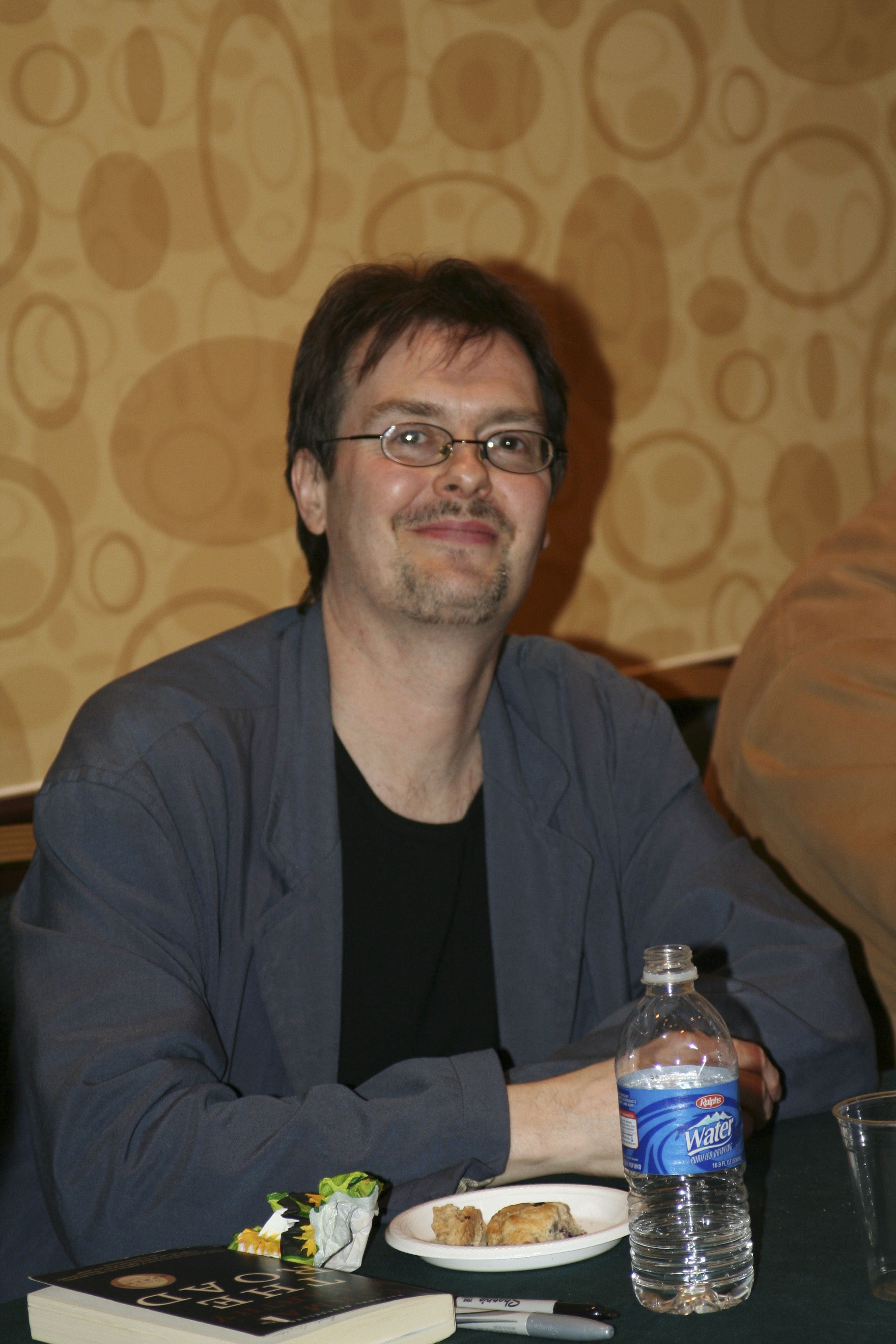 Andrew Cartmel at a [[Doctor Who]] [[fan convention]] in 2012