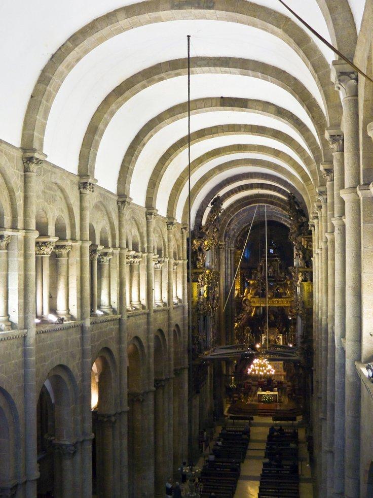 File catedral de santiago de compostela desde a tribuna - Interior santiago de compostela ...