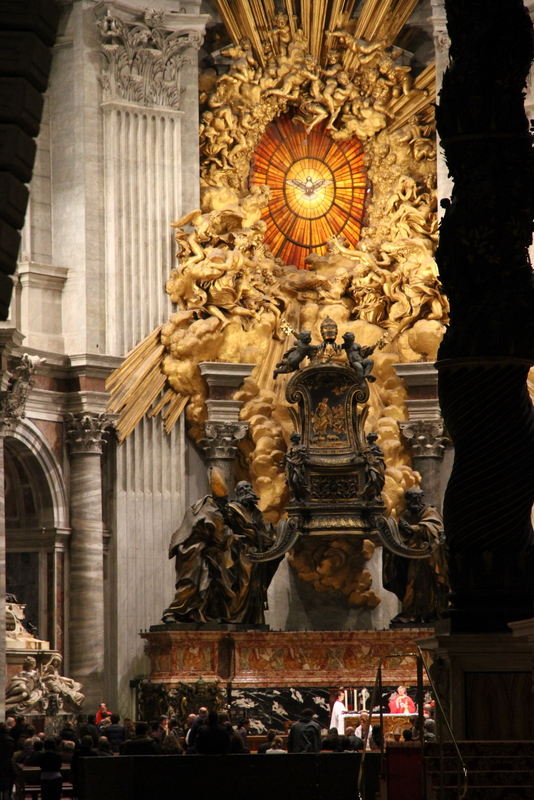 A picture of the Throne of St. Peter