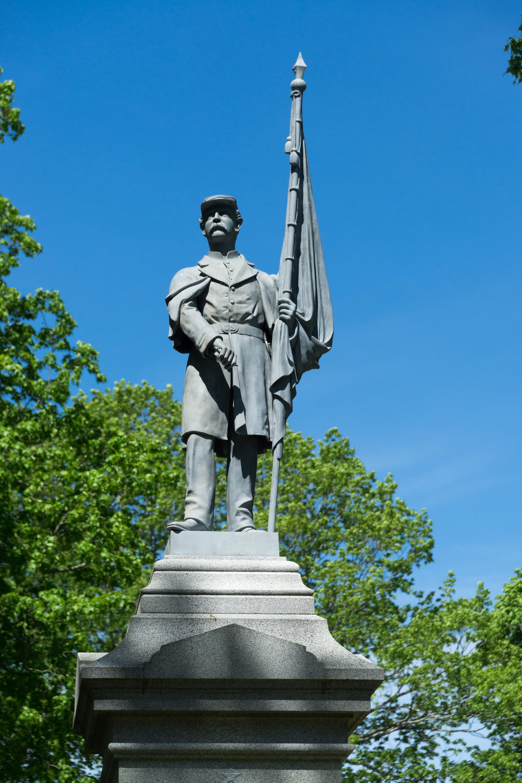 File Civil War memorial Evergreen Cemetery Portland Maine closer