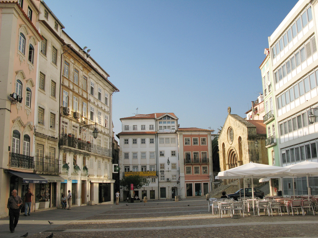 Coimbra Portugal  city photos : Praça do Comércio Commerce Square in the Baixa of Coimbra.