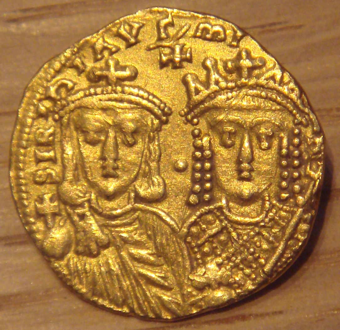 Coin with Constantine and Irene