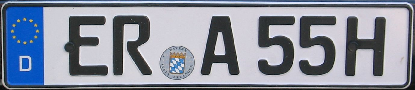 Recognizing German License Plates Important White Spaces Getting