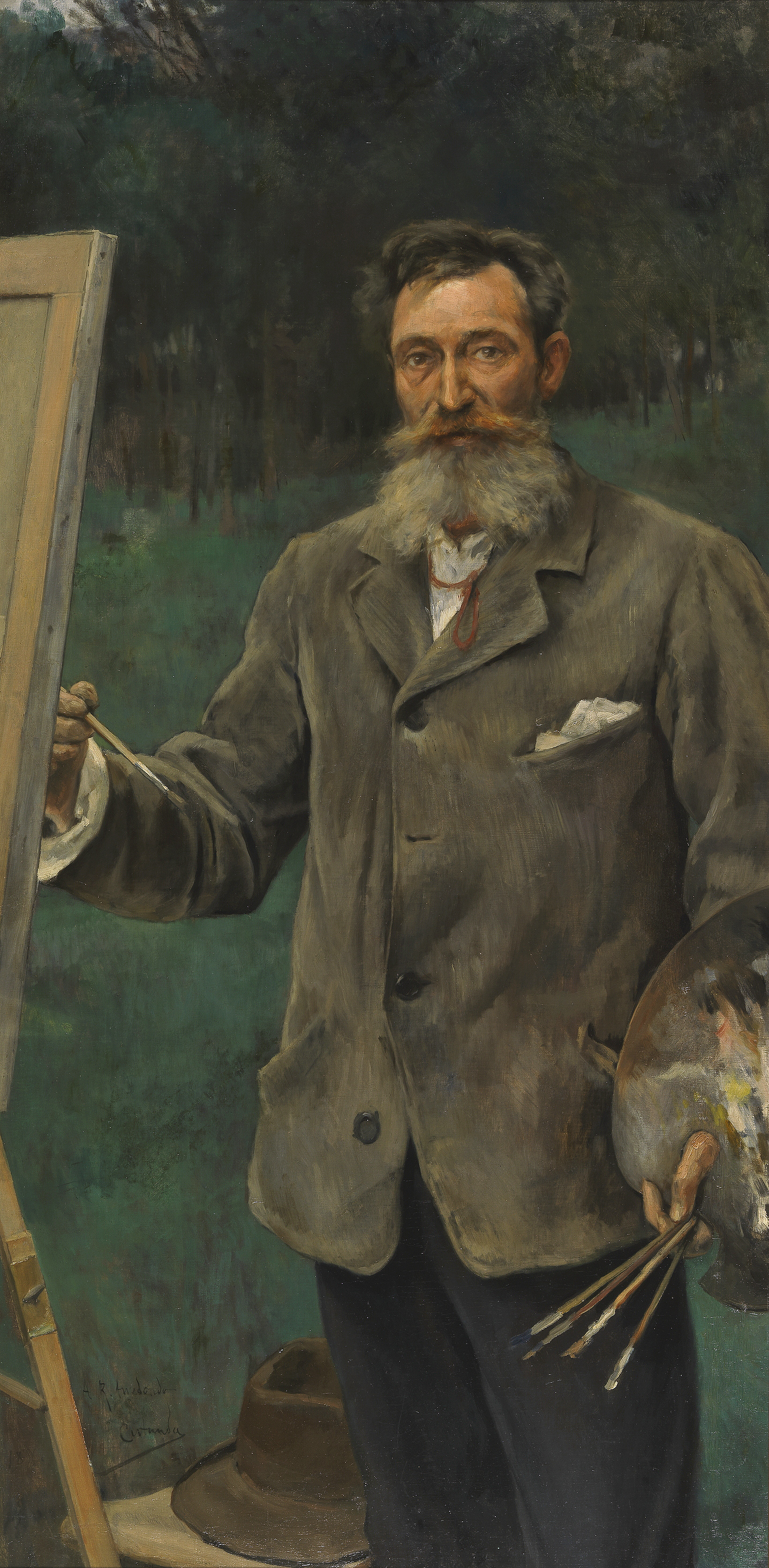 File:El pintor Ricardo Arredondo, por Vicente Cutanda