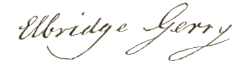 Elbridge Gerry Signature
