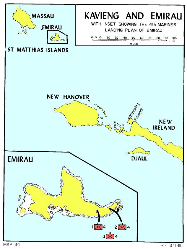 Emirau Island Map