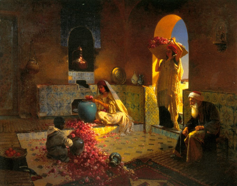 Image result for perfume rose painting arab
