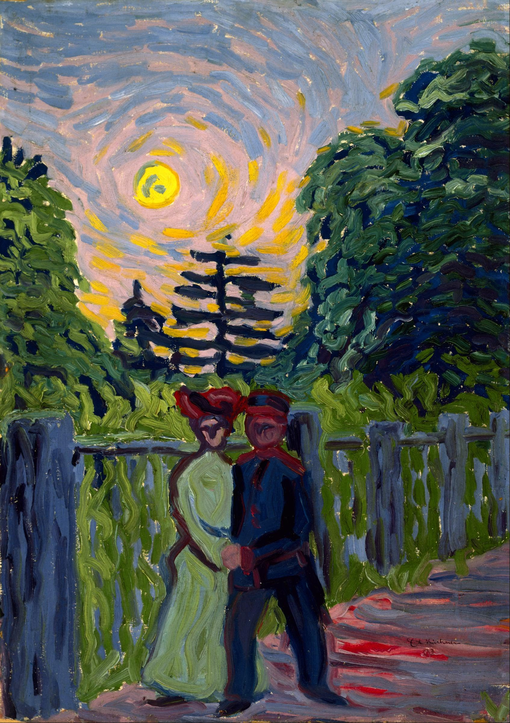 Moon Rise Chart: Ernst Ludwig Kirchner - Moonrise- Soldier and Maiden - Google ,Chart