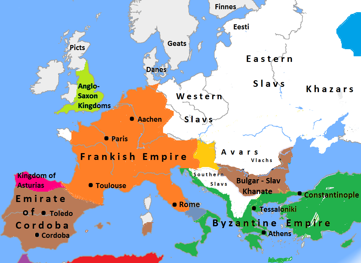 File:Europe in 814, Charlemagne, Krum, Nicephorus I.png - Wikimedia Commons