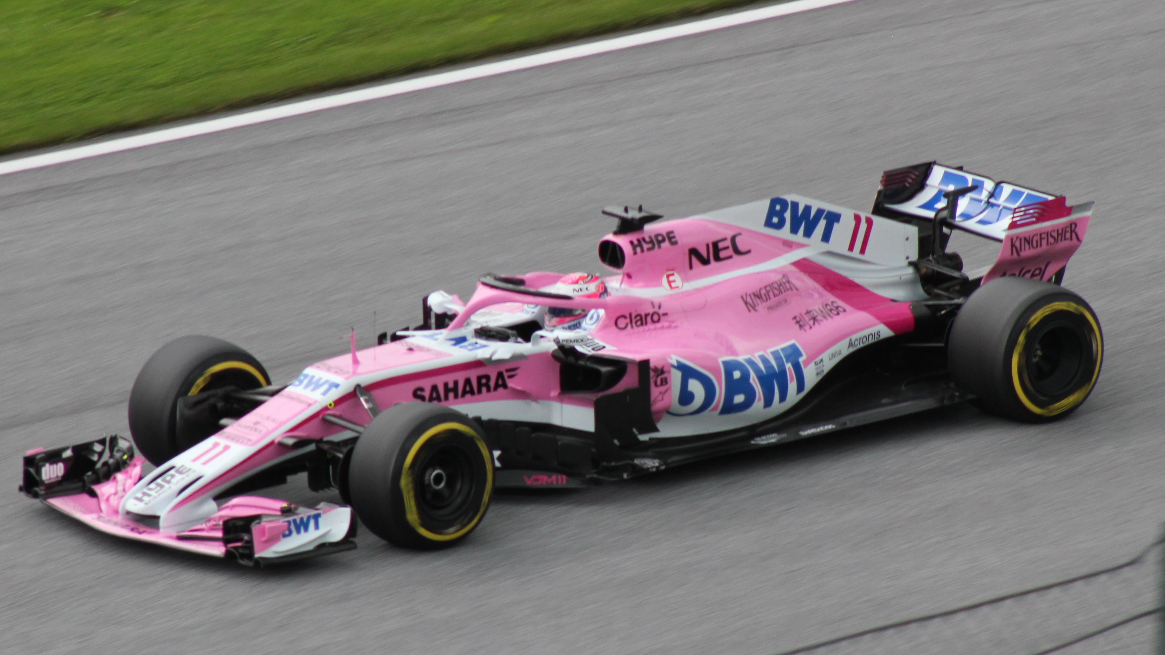 Sahara Force India VJM11 Sergio Perez 2018