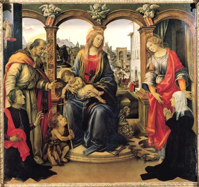 フィレンツェの芸術・教会(フィリッピーノ・リッピ「聖母子と聖ジョバンニーノ」)