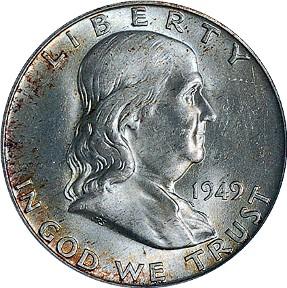 Image result for ben franklin half dollar